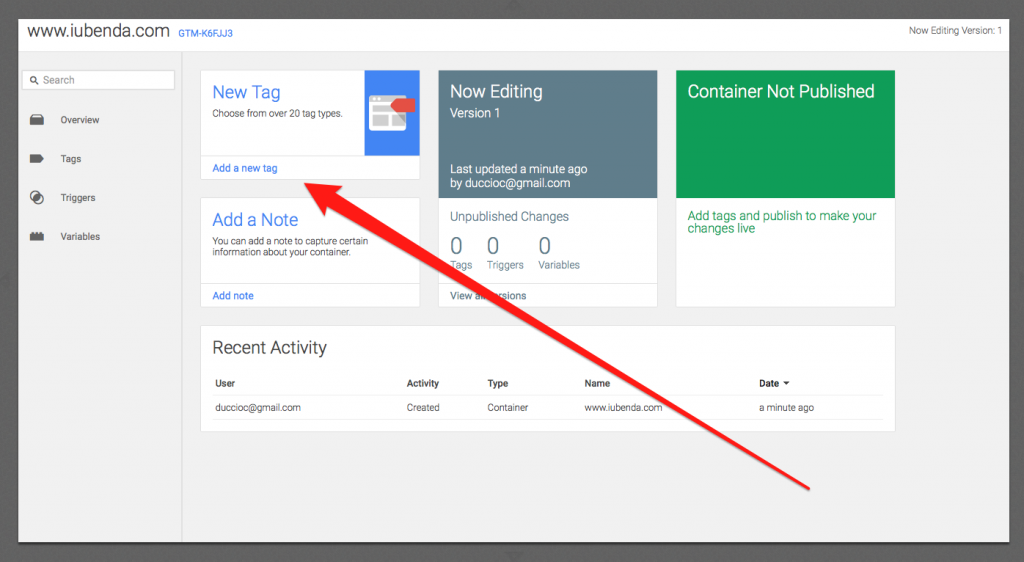 Google Tag Manager - Creating a tag