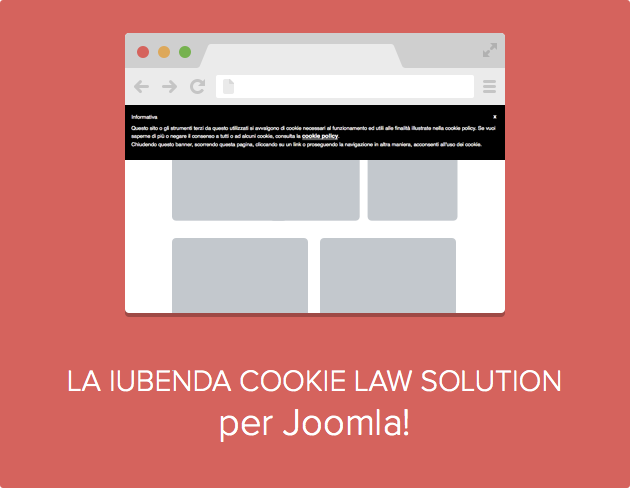 Plugin Joomla! di iubenda – Cookie law solution