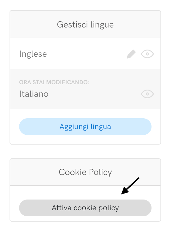 Attiva cookie policy