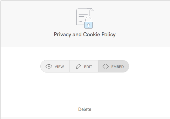 Embed On For The Privacy And Cookie Policy Generator
