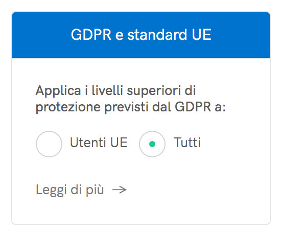 Switch GDPR e standard UE