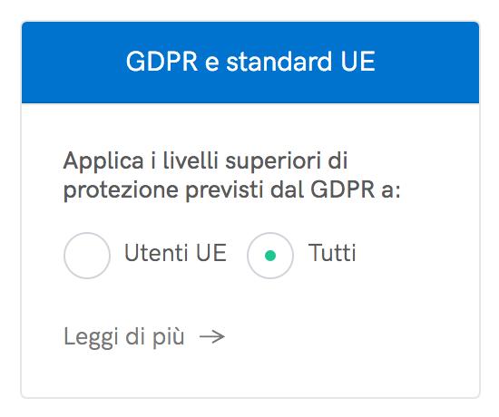 Applica i livelli superiori di protezione previsti dal GDPR