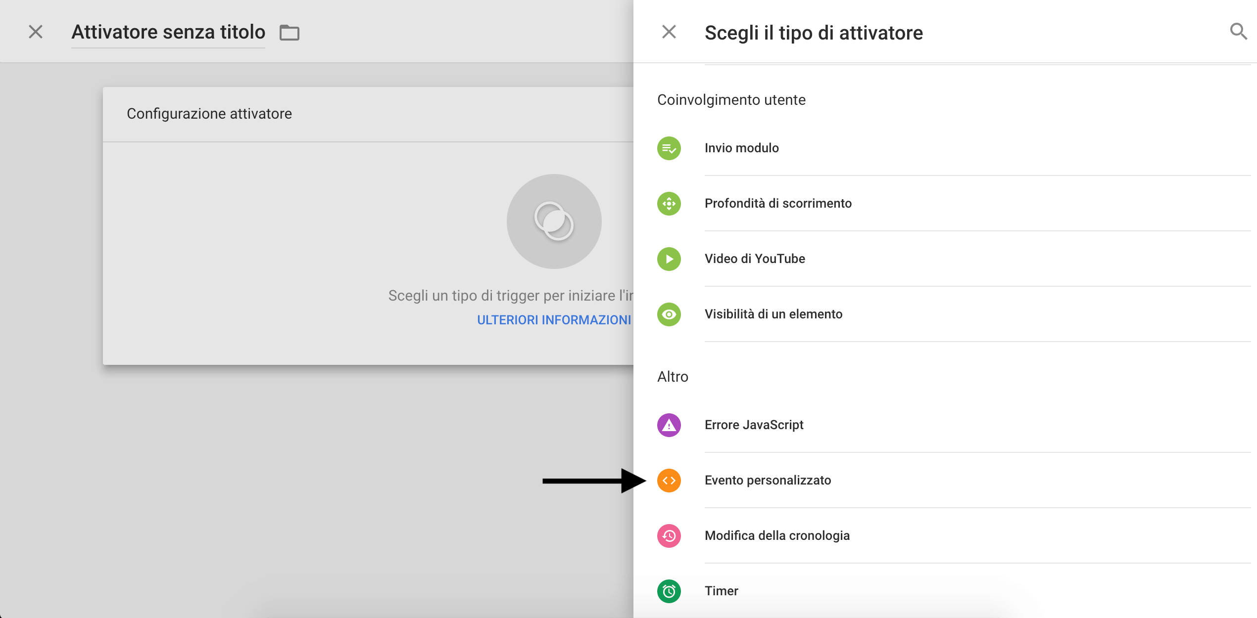 Google Tag Manager - Evento personalizzato