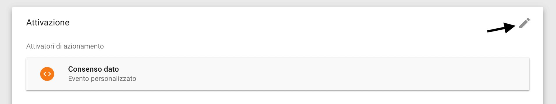 Google Tag Manager - Attivazione