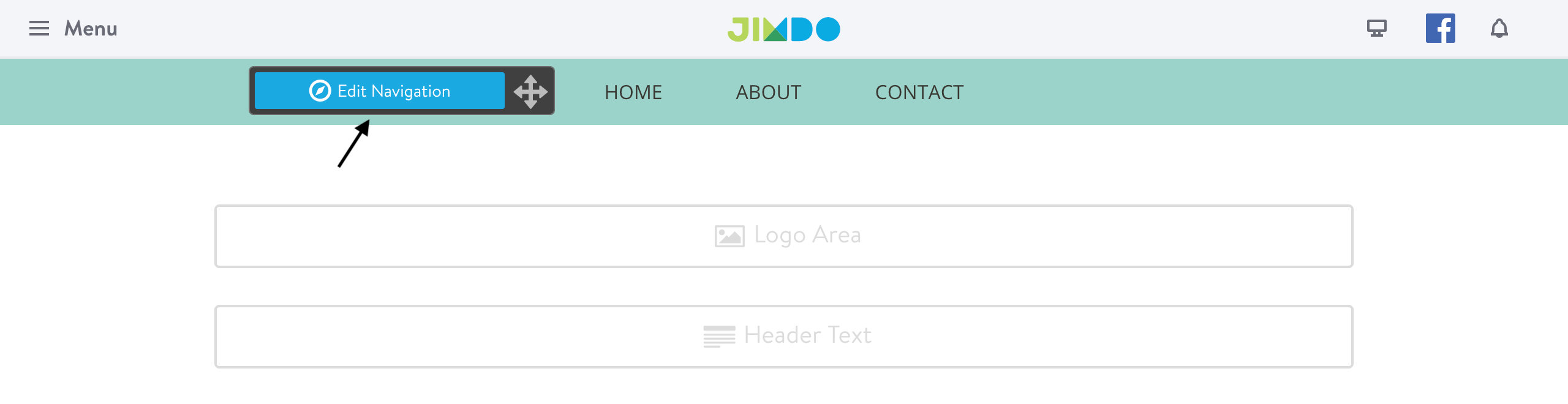 Jimdo - Edit navigation