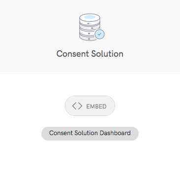 Consent Solution Dashboard button