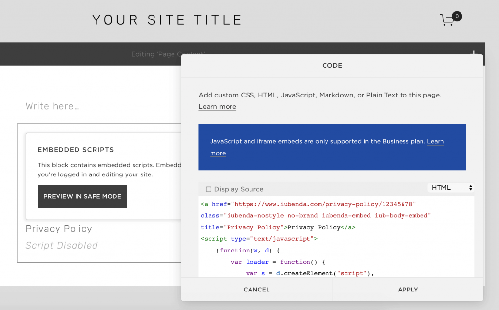Squarespace - Privacy Policy