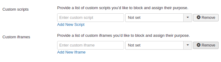 Joomla custom and iframe scripts fields