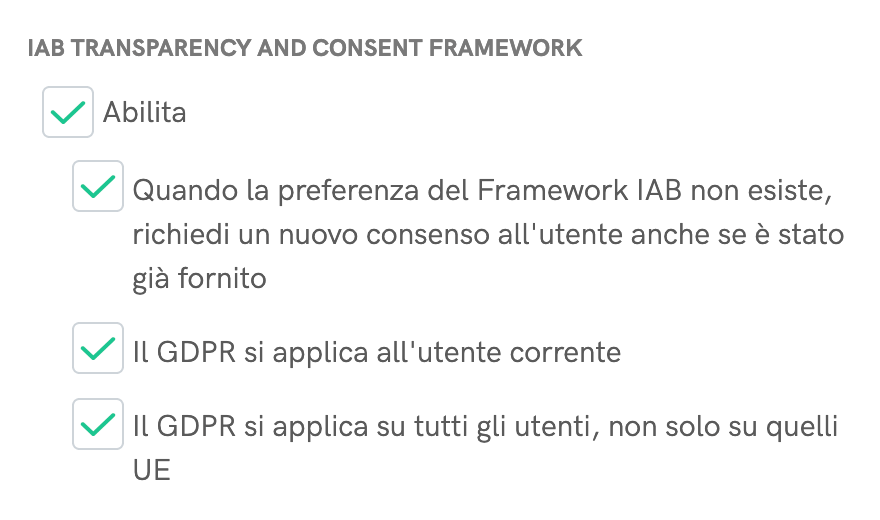 IAB TCF - Applicazione del GDPR