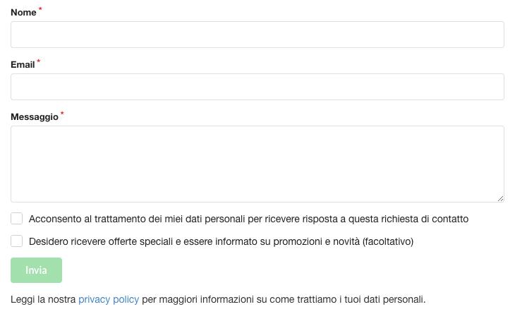 ChronoForms per Joomla! - Esempio di form di contatto