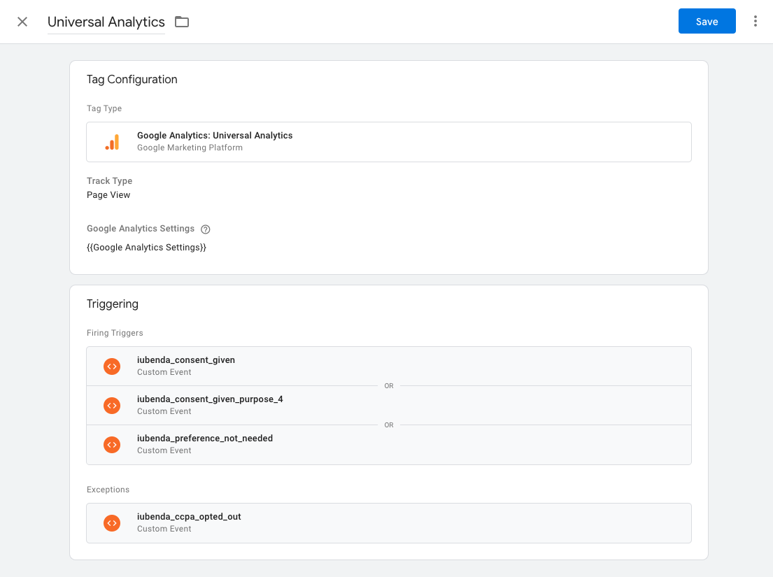 Google Tag Manager - Universal Analytics tag configuration