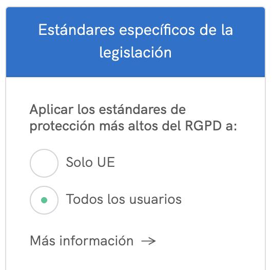 RGPD y estándares de la UE