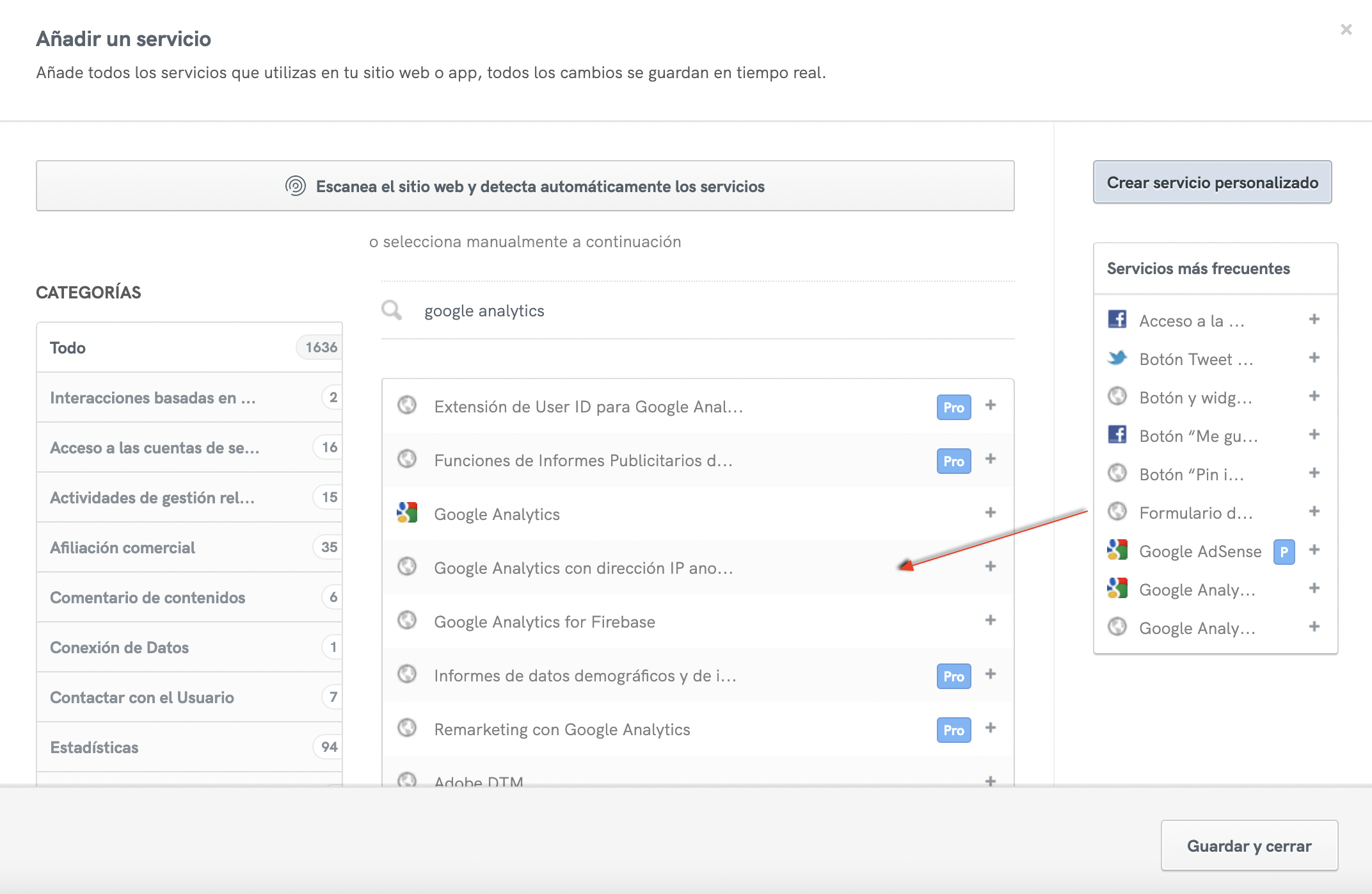 Google Analytics with anonymized IP