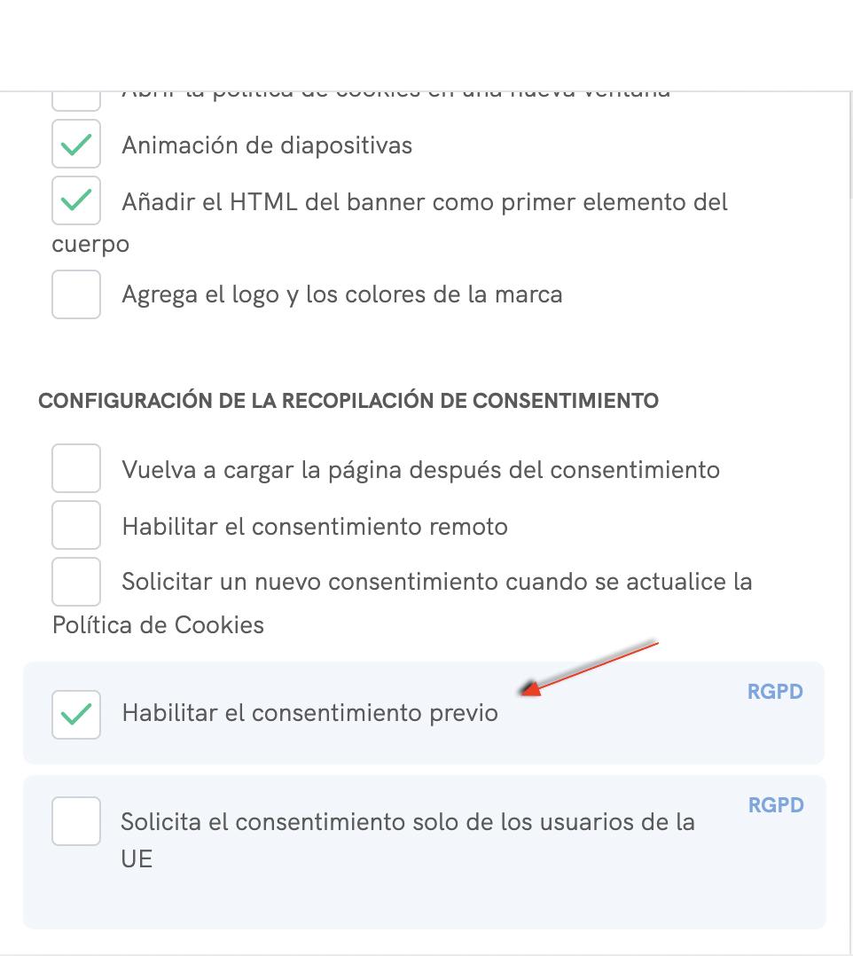 Prior blocking checkbox - Configurator